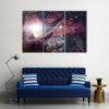 Saturn And Its Ring Multi Panel Canvas Wall Art