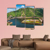 Maota Lake and Gardens of Amber Fort in Jaipur, Rajasthan, India multi panel canvas wall art