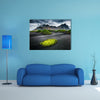 Great wind rippled beach black sand, multi panel canvas wall art
