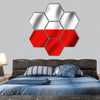 Flag of Poland hexagonal canvas wall art