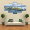 Jungle And Deforestation In The Coast Of The New Guinea, An Aerial Print, Multi Panel Canvas Wall Art