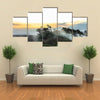 volcano steam on the landscape of Volcano National Park multi panel canvas wall art