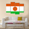The flag of Niger Vector illustration World flag Multi Panel canvas wall art