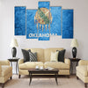Grunge Oklahoma state flag Multi panel canvas wall art