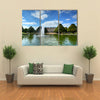 A view of Hampton Court Palace multi panel canvas wall art
