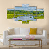 Belarussian National Park Braslav Lakes Surrounded Multi panel canvas wall art