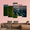 Mykinesholmur island and lighthouse in sunset light, Faroe Islands wall art