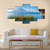 Wooden pier at Lake Atitlan on the shore at Panajachel Guatemala Multi panel canvas wall art