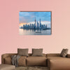 Shanghai skyline of lujiazui, Pudong financial district multi panel canvas wall art