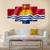 National Flag of State Kiribati Multi Panel Canvas Wall Art