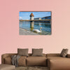 Panoramic view of city center of Lucerne, Switzerland multi panel canvas wall art