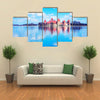 The Trakai Island And The Castle Museum At The Lake Of The Galve In Lithuania, Multi Panel Canvas Wall Art