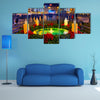 A Beautifully Decorated Night Scene Multi Panel Canvas Wall Art