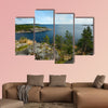 Stone shores, Lake Ladoga multi panel canvas wall art