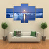 Summer night in Antarctica Icebergs floating in the moonlight Multi panel canvas wall art