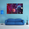 All Planets Uniting With Nebula Nebula Multi Panel Canvas Wall Art