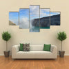 Blue sky and white cloud over Kawah Ijen volcanic crater multi panel canvas wall art