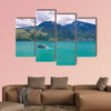 View of Thun Lake with cruise ship from Spiez village, Switzerland wall art