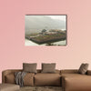 Walls of the Amer Fort of Rajasthan multi panel canvas wall art