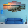 Beauty Of The Sunset At Lumut, Perak,Malaysia Multi Panel Canvas Wall Art