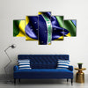 Flag Of Brazil Multi Panel Canvas Wall Art