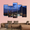 View of botafogo cove with Christ Redeemer in the background at dusk multi panel canvas wall art