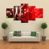 Background of Valentine's Day celebration multi panel canvas wall art