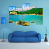 Beautiful view of beach at Cabo San Juan, Tayrona Natural National Park Colombia Multi Panel Canvas Wall Art