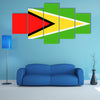 Guyana Flag Vector Icon – Illustration Multi panel canvas wall art