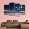 Shanghai at night, China multi panel canvas wall art
