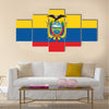 Flag of Ecuador Multi Panel Canvas Wall Art