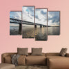 Khabarovsk Bridge is a road and rail bridge, multi panel canvas wall art