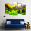 A Beautiful And Impressive Mountain Landscape, Multi Panel Canvas Wall Art