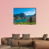 Panoramic view of Plastiras lake in central Greece, Karditsa Multi panel canvas wall art