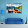 The Colorful summer panorama of the Bohinj Lake multi panel canvas wall art