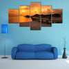 View of Vilamendhoo Island At The Water Bungalows Side In The Indian Ocean, Maldives Multi Panel Canvas Wall Art
