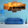 A View of The Vilamendhoo Island At The Water Bungalows, Indian Ocean, Maldives Multi Panel Canvas Wall Art