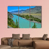 Turquoise Katun River in a mountain valley  beautiful view from the colorful wall art
