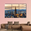 Germany, winter sunset over Freiburg im Breisgau wall art