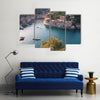 The Aerial View Of A Water Body Portofino In A Sunny Day, Itlay, Multi Panel Canvas Wall Art