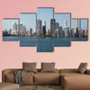 Panorama of skyline of new city of Cartagena, Colombia multi panel canvas wall art