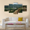 Mountain scene of thimpu Bhutan is geopoliticaly in South Asia Multi panel canvas wall art