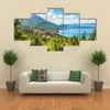 Typical Macedonian Fishing Village On The Shore Of Lake Ohrid, Macedonia, Multi Panel Canvas Wall Art