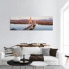 Aerial photo of the Megyeri-bridge over the Danube river Panoramic canvas Wall Art
