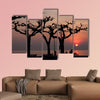 Sunset over Garda Lake multi panel canvas wall art