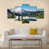 beautiful view of Mt. Baker recreation area, Washington, USA Multi Panel Canvas Wall Art
