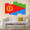 Eritrea Flag Vector Icon Illustration Multi Panel Canvas Wall art