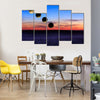 Lunar Eclipse And Blue Blood Moon Multi Panel Canvas Wall Art Set