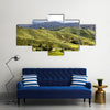 Green Tea Plantations at Cameroon Highlands in Malaysia Multi panel canvas wall art