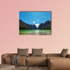 Mountain lake panorama landscape. Dolomites Italy Multi panel canvas wall art